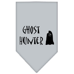 Ghost Hunter Screen Print Bandana Grey Small